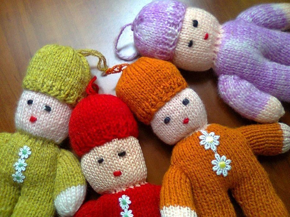 Papusa jucarie tricotata manual - Jucarii sigure pentru copii