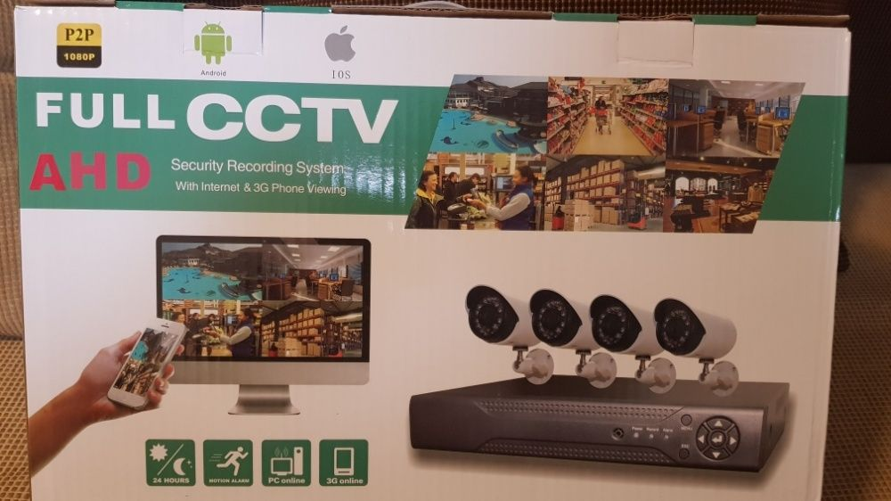 Sistem supraveghere video cctv AHD 4 Camere
