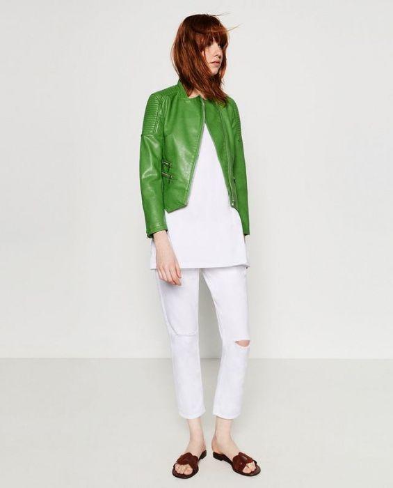 Jacheta faux leather Zara