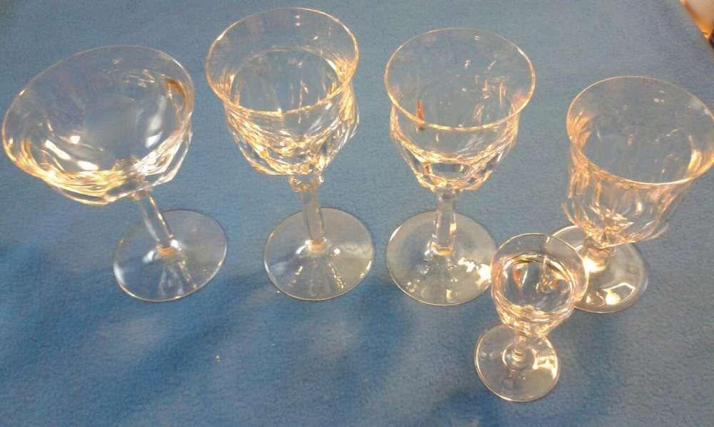 Serviciu rar de pahare de cristal Moser Bohemia