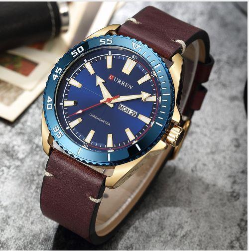 Relógio de homen da marca CURREN
