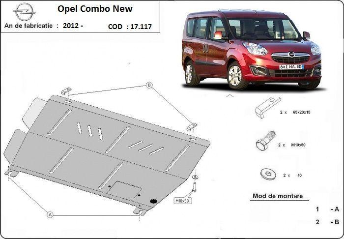 Scut metalic pentru motor Opel Combo 2010-2016 - otel 2mm