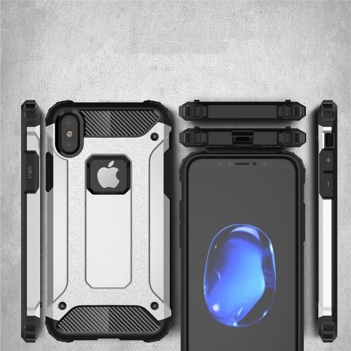 Удароустойчив Кейс Spigen Tough Armor Tech за Apple iPhone X iPhone 10