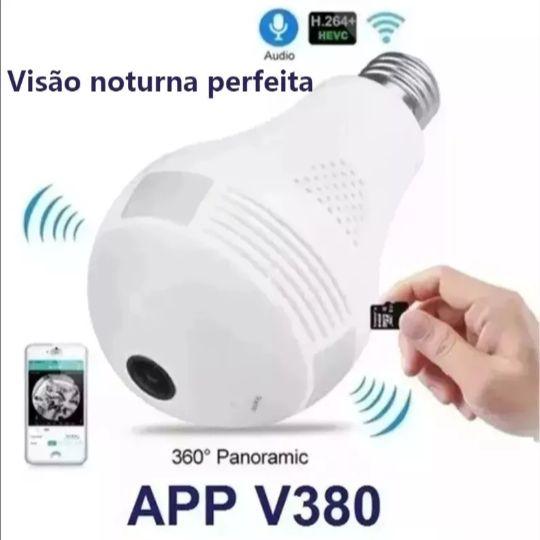 Lâmpada LED com Câmera 360º