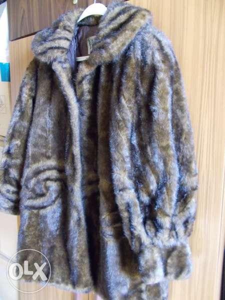 Палто от еко кожа