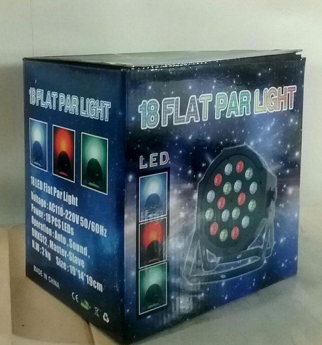 APARAT ELECTRONIC cu programe de jocuri lumini 18 LED FLAT PAR LIGHT