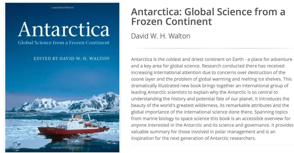 Carte Antarctica - Global Science from a Frozen Continent