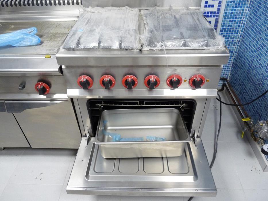 Професионална печка - газ и ток