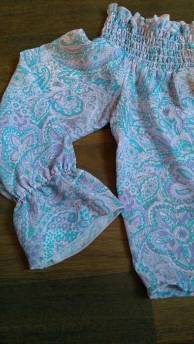 Ефирна блуза с голи рамене