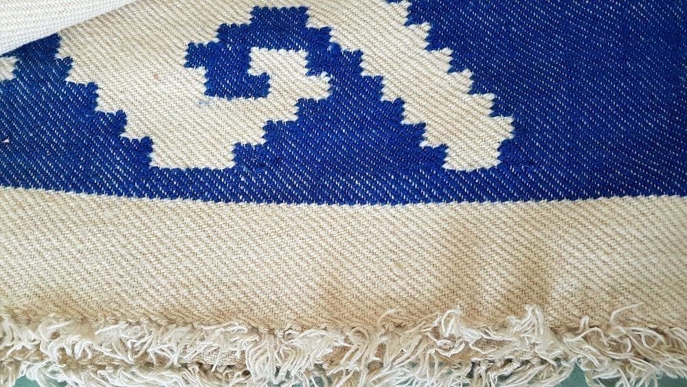 Ръчно тъкано вълнено одеяло, 100% вълна