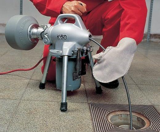 Прочистка канализации аппаратом КРОТ, Чистка канализации, чистка труб