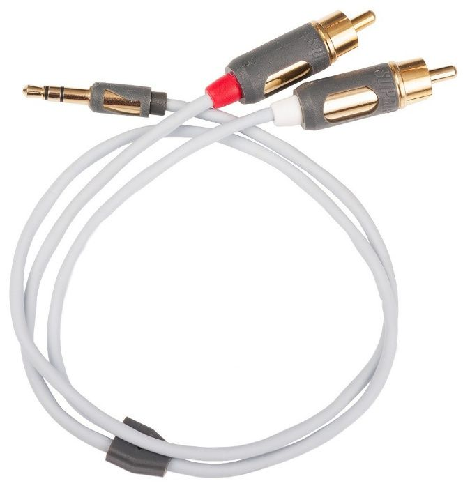 Cabluri interconect Jack 3.5mm-2RCA Supra Cables MP-2RCA, noi,sigilate