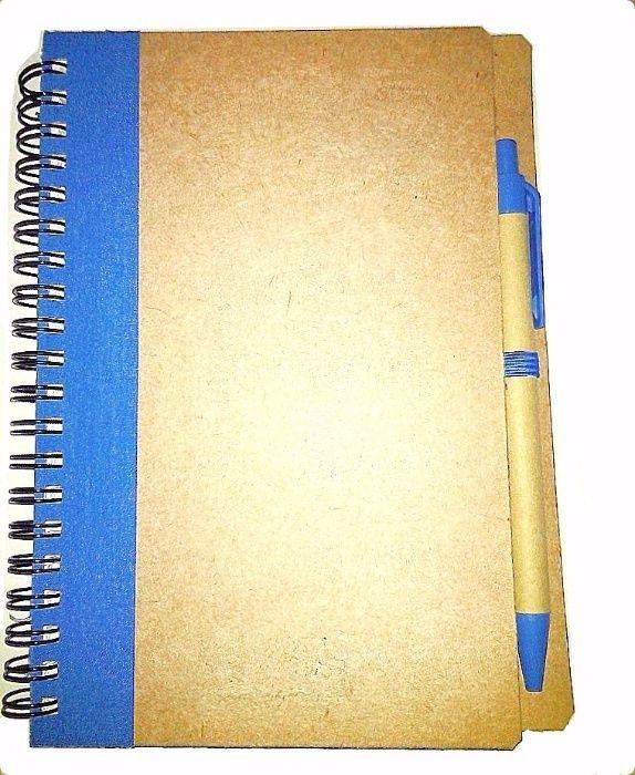 Caiet/carnetel carton pix reciclat, spirala, ecologic, bio, nou