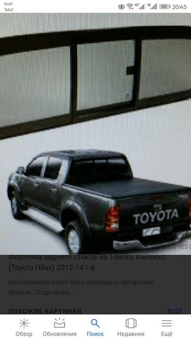 Форточка заднего стекла Toyota Hilux