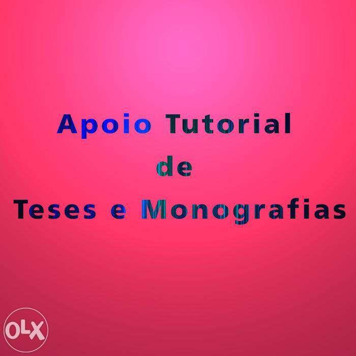 Apoio Tutorial de Teses Monografias e outros Trabalhos Universitários