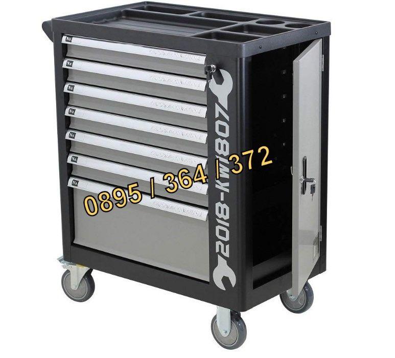 Професионален шкаф с инструменти - KraftWelle + Гедоре - Сервиз