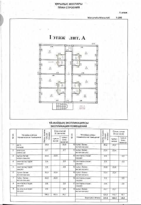 Жилой дом-общежитие, 24 комнаты.