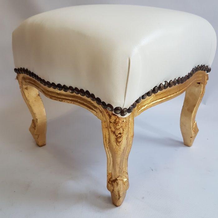 Табуретка барок бяла