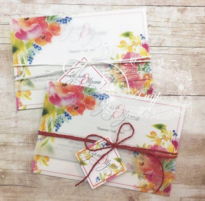 Пригласительные на свадьбу из дизайнерской бумаги на заказ!