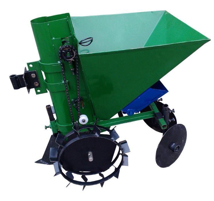 Картофосадачка едноредова за мотофреза/мини трактор с торовнасяне