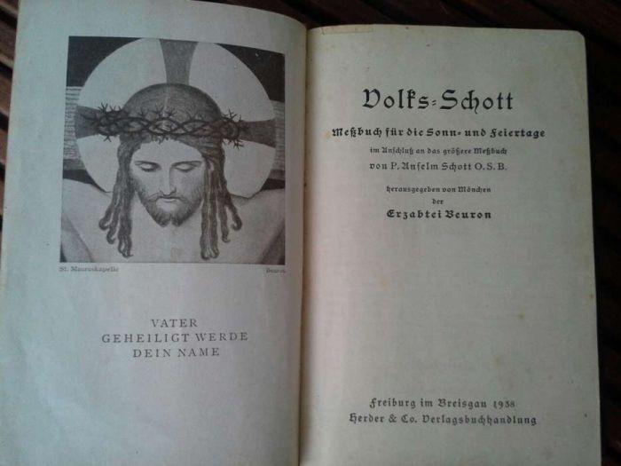 Carte rugaciuni scriere gotica 1938