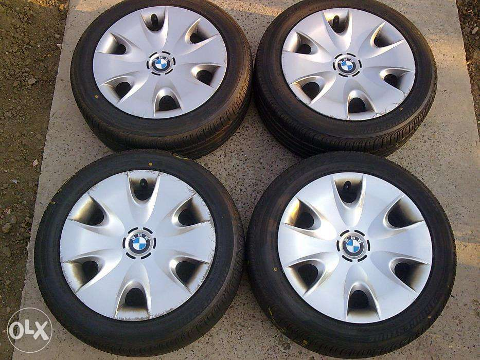 "BMW - set jante otel originale SERIA 1, pe 16""+anvelope vara"