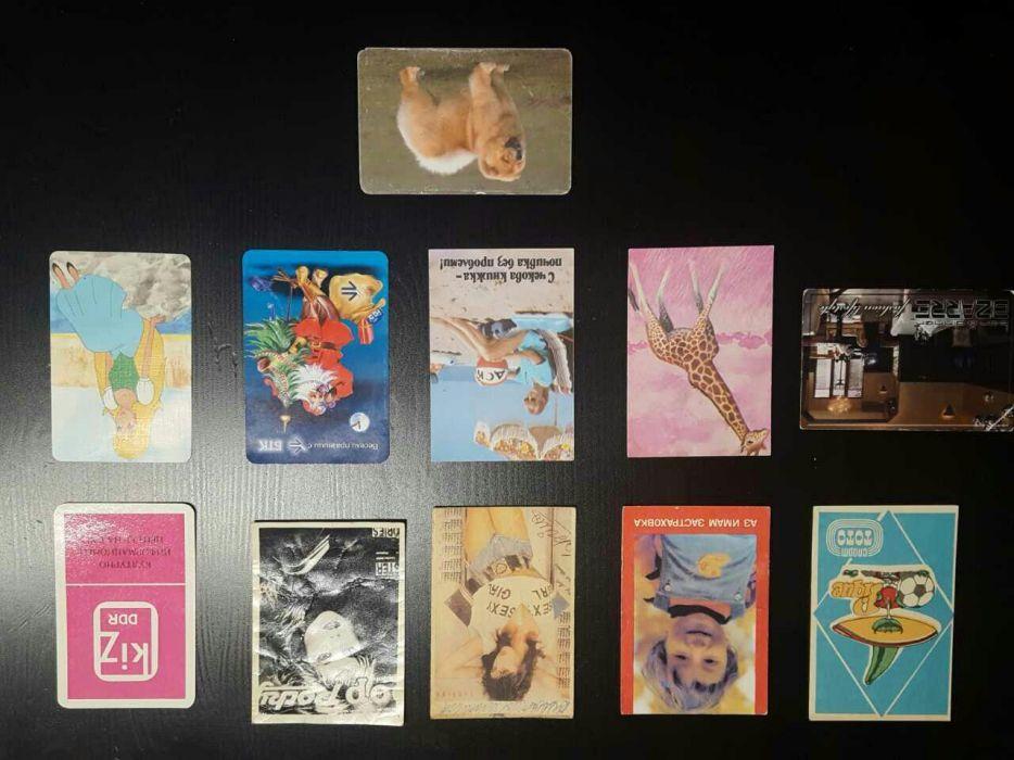 Календарчета, колекция, картички, серия, 1986