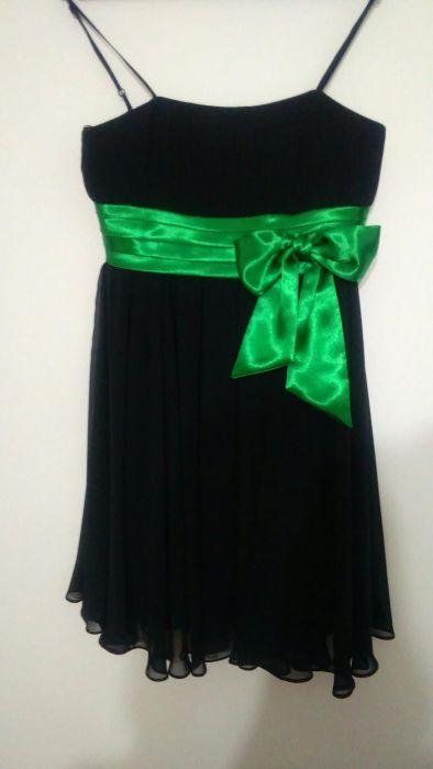Rochie de seara negru cu verde