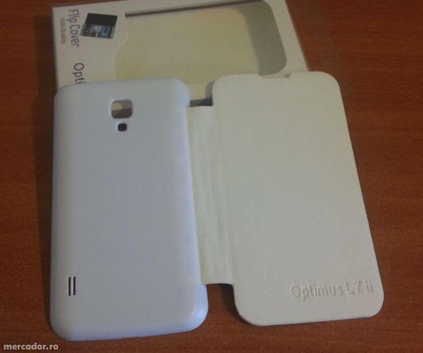 Husa ALBA Toc Flip Cover LG Optimus L7 II Dual P715 + Folie