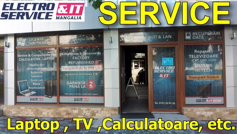 Electroservice Mangalia- reparatii laptop,TV LED & LCD, calculatoare