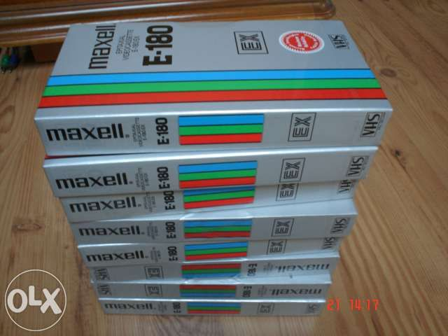 caseta video VHS MAXELL TDK E 180 made in England/Japan