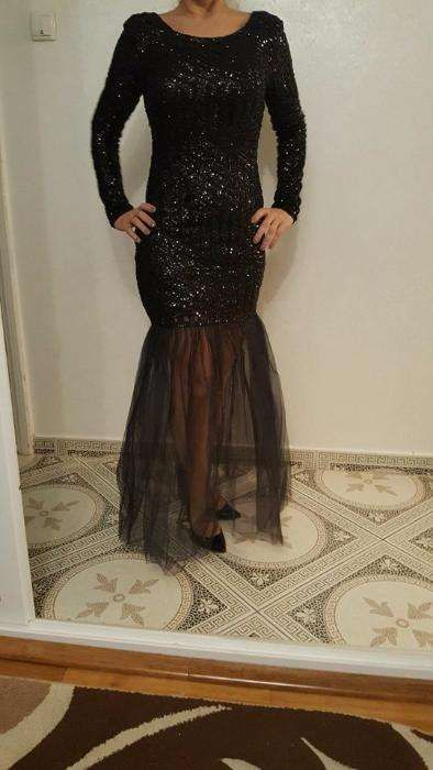 rochita neagra cu paiete