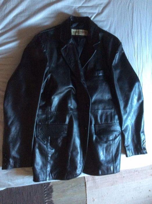 Мъжко кожено яке (дълго)