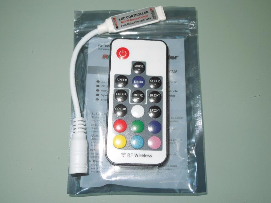 Controler Pt Banda Led Rgb Si Mono Color 5050,3528,5630 RF Wireless