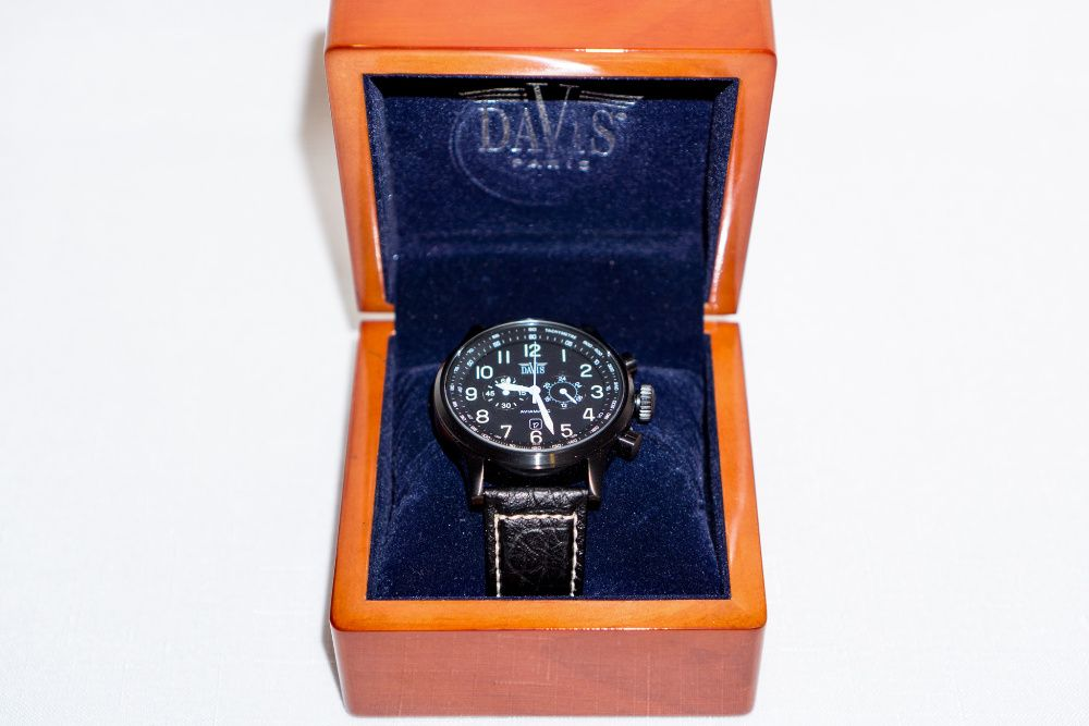 Ceas Barbatesc DaVis 0451 Aviator Chronograph