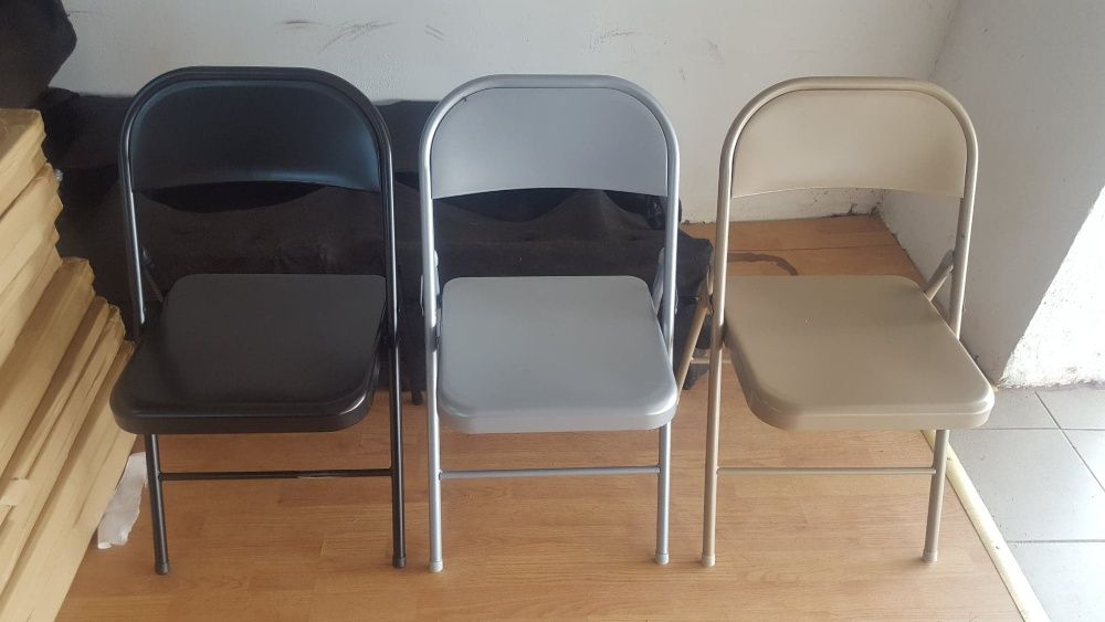 Scaune pliante (pliabile) ieftine,metalice,pt.terase,nunti,conferinta