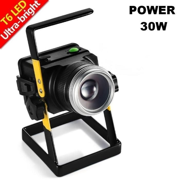 Lanterna Proiector Reflector 30W cu ZOOM acumulator Led CREE T6 Q5 NOU