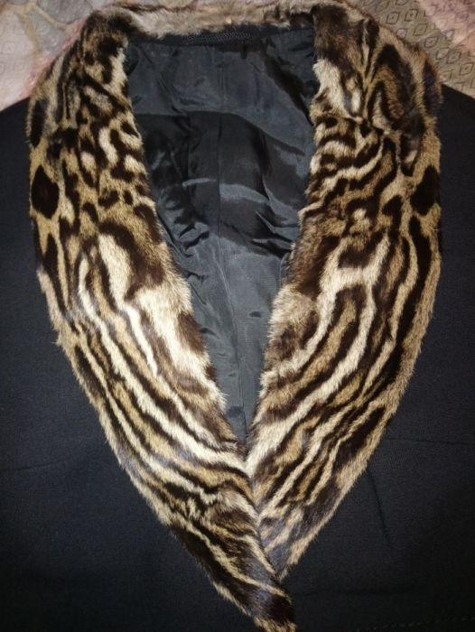 Сако,палто с Естествен косъм от тигър