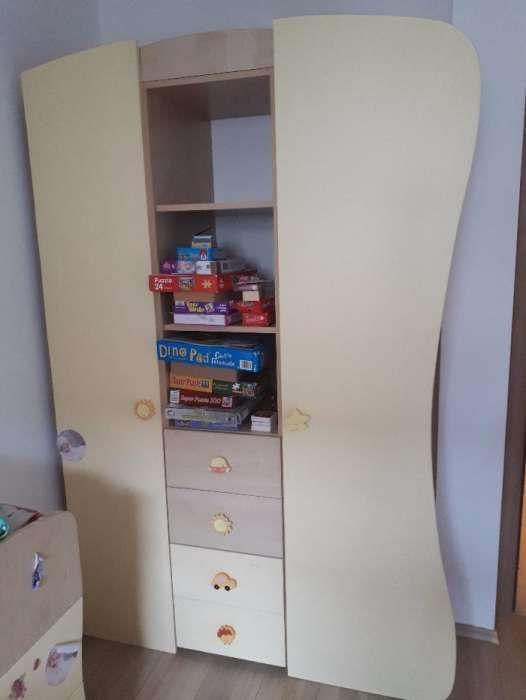 Vand dulap cu biblioteca camera copii
