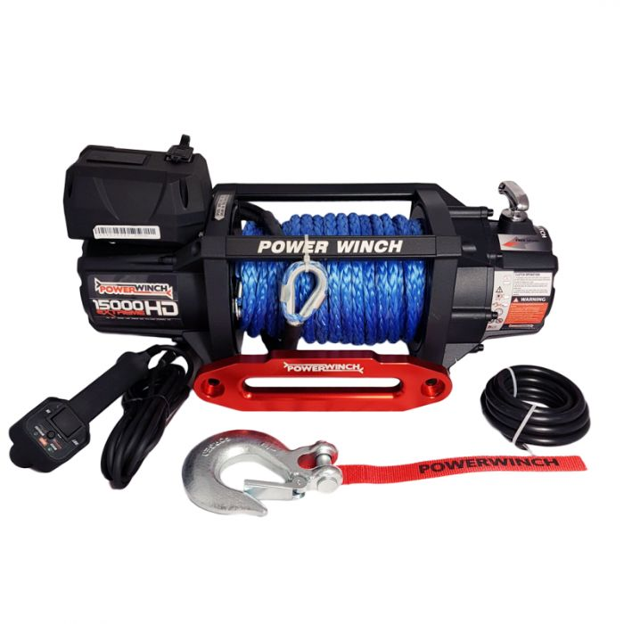 Troliu PowerWinch PW 15000 Extreme HD SR cu coarda sintetica- NOU