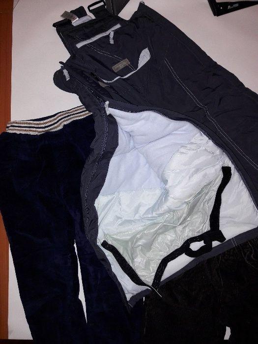 Salopetă iarnă/ schi, pantaloni dublat cu polar, 3-4 ani