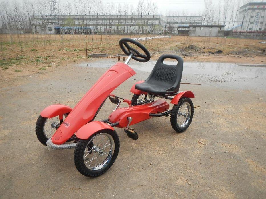 Karturi copii Go Kart cu pedale DF 120-1,roti cauciuc,scaun reglabil