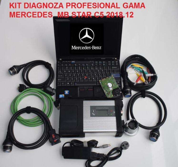 Tester profesional Mercedes MB STAR C5 cu laptop I5 Software full