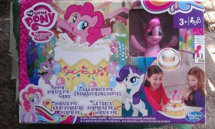 Poppin'PinkiePie Game Tort surpriză aniversare,original Hasbro MLP,NOU