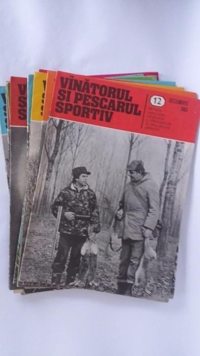 Revista Vanatorul si Pescarul sportiv . Colectie reviste pe ani .