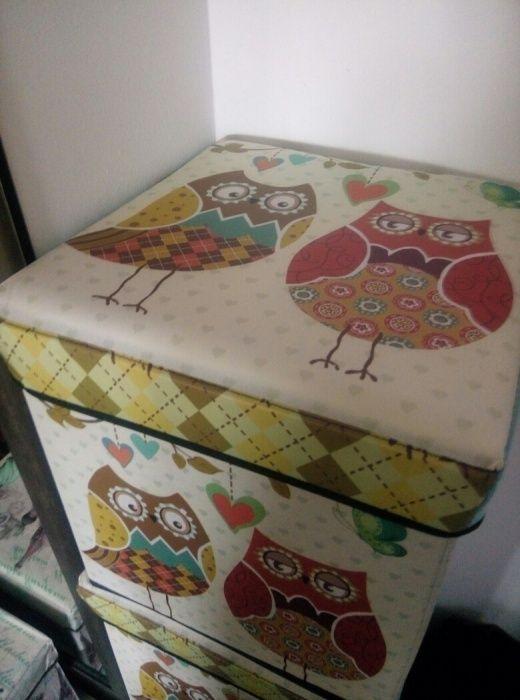 Taburet, cutie depozitare