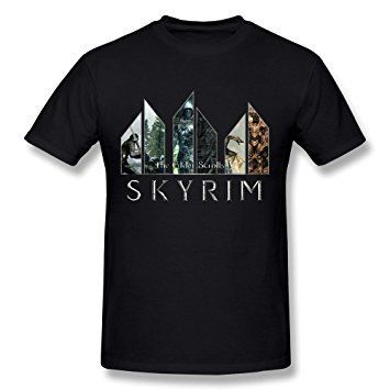 Тениска T-shirt The Elder Scrolls V Skyrim или черно поло