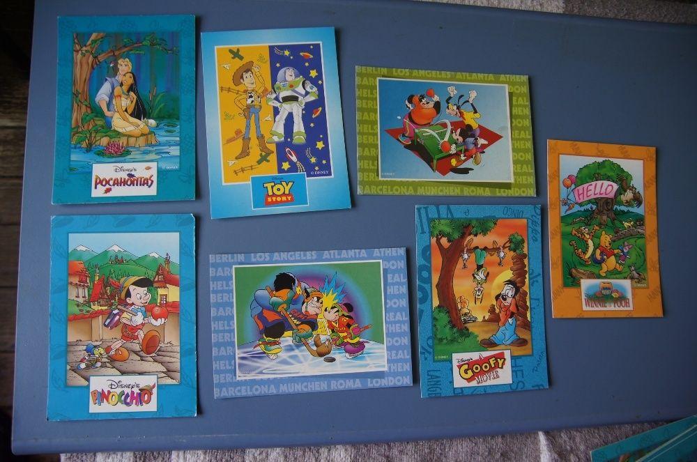 Raritate ! Set 7 carti postale de colectie. Editie limitata Disney.