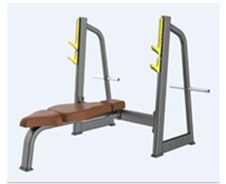 Cama recta de musculação. Olimpica