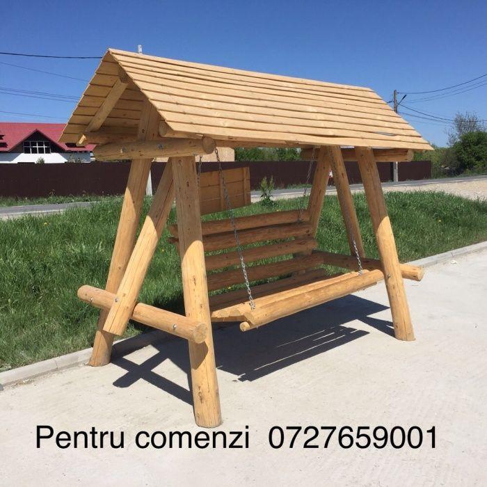 Leagan lemn / balansoar rustic lemn